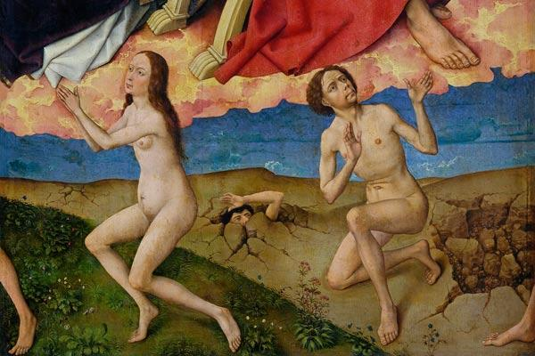 The Last Judgement, detail of the resurrection of the dead
