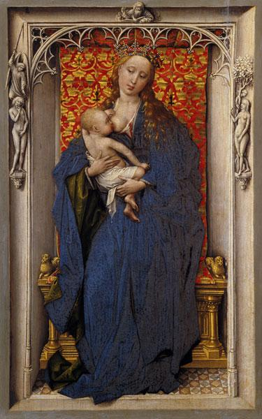 van der Weyden, Rogier : Maria with the child at th...