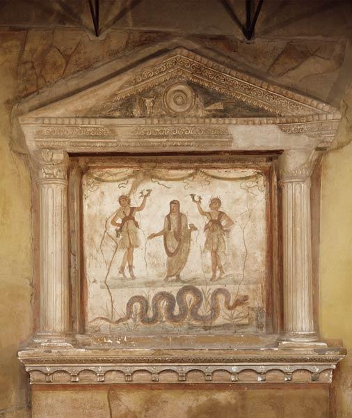 Household Shrine From The Casa Dei Vett Roman As Art