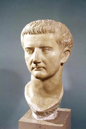 Head of the Emperor Tiberius (42 BC-37 AD) (marble)