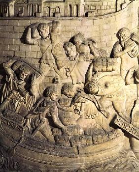 Loading a ship, detail from a cast of Trajan's column