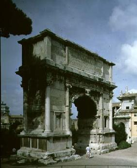 Roman 1st century AD : The Arch of Titus, to comm...