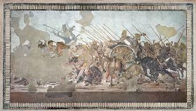 The Alexander Mosaic, depicting the Battle of Issus between Alexander the Great (356-323 BC) and Dar
