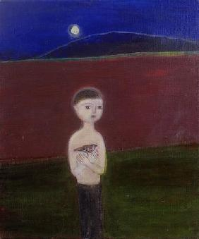 Boy in the Moonlight, 2002 acrylic on canvas)