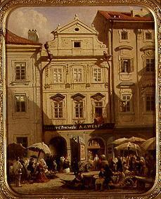 von Alt, Rudolf : Fruit market in Prague