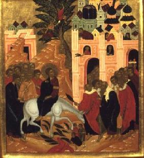 Christ's Entry into Jerusalem, icon