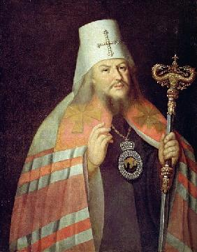 Portrait of Plato II, Metropolitan of Moscow, c.1788 (oil on copper)