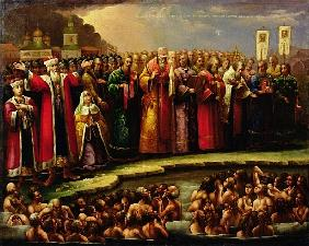 The Baptism of the Murom people by Yaroslav of Murom in 1097