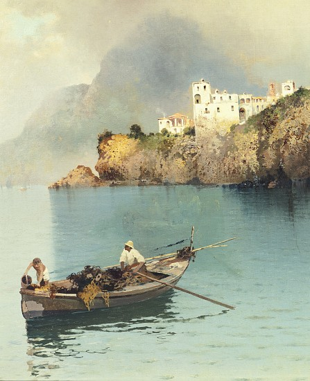 Fishermen in Sorrento - Salvatore Petruolo as art print or hand ...