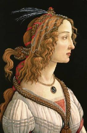 Half-length portrait of Simonetta Vespucci
