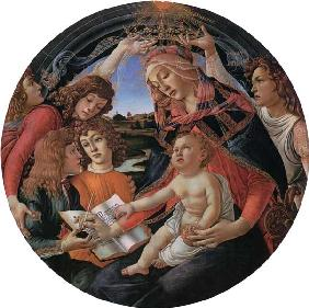 Botticelli, Sandro : Madonna with child and fiv...