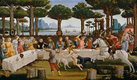 Botticelli, Sandro : The banquet of the Nastagi...