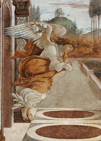 Botticelli / Angel of the Annunciation