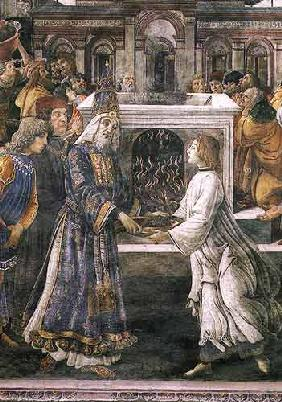 The Purification of the Leper and the Temptation of Christ, in the Sistine Chapel: detail of the pur