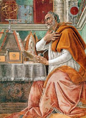 St.Augustine in his Cell