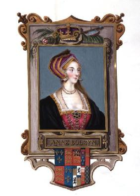 Portrait of Anne Boleyn (1507-36) 2nd Queen of Henry VIII, as a Young Woman from 'Memoirs of the Cou