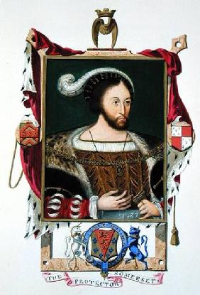 Portrait of Edward Seymour (c.1506-52) Lord Protector of Edward VI and Duke of Somerset from 'Memoir