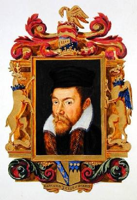Portrait of Edward Stanley (1508-72) 3rd Earl of Derby from 'Memoirs of the Court of Queen Elizabeth