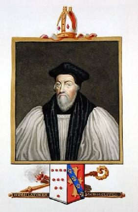 Portrait of Hugh Latimer (b.c.1486-1555) Bishop of Worcester from 'Memoirs of the Court of Queen Eli
