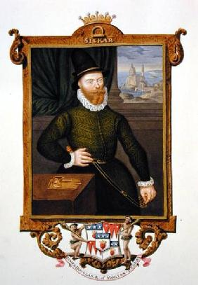 Portrait of James Douglas (c.1516-81) 4th Earl of Morton from 'Memoirs of the court of Queen Elizabe