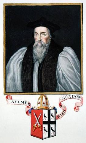 Portrait of John Aylmer (1521-94) Bishop of London from 'Memoirs of the Court of Queen Elizabeth'