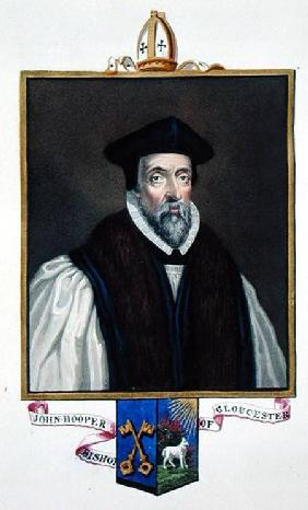 Portrait of John Hooper (d.1555) Bishop of Gloucester from 'Memoirs of the Court of Queen Elizabeth'