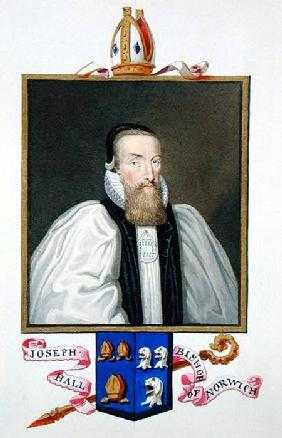 Portrait of Joseph Hall (1574-1656) Bishop of Norwich from 'Memoirs of the Court of Queen Elizabeth'