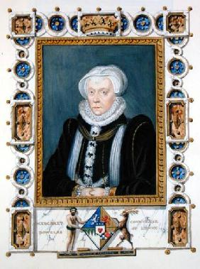 Portrait of Margaret Douglas (1515-78) Countess of Lennox from 'Memoirs of the Court of Queen Elizab