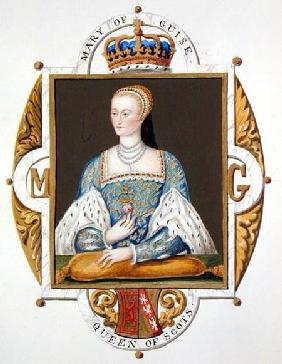 Portrait of Mary of Guise (1515-60) Queen of Scotland from 'Memoirs of the Court of Queen Elizabeth'