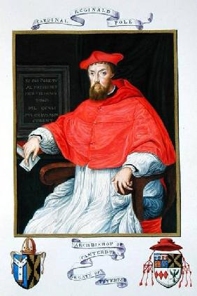 Portrait of Reginald Pole (1500-58) Archbishop of Canterbury and Legate of Viterbo from 'Memoirs fro