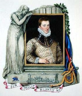 Portrait of Sir Philip Sidney (1554-86) from 'Memoirs of the Court of Queen Elizabeth'