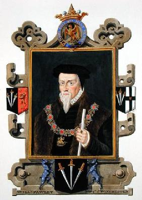 Portrait of Sir William Paulet (c.1485-1572) Marquis of Winchester from 'Memoirs of the Court of Que