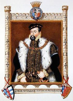 Portrait of William Herbert (c.1506-70) 1st Earl of Pembroke from 'Memoirs of the Court of Queen Eli