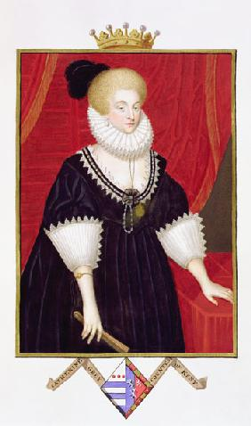 Portrait of Lady Catherine Grey (c.1538-1668) Countess of Kent from 'Memoirs of the Court of Queen E