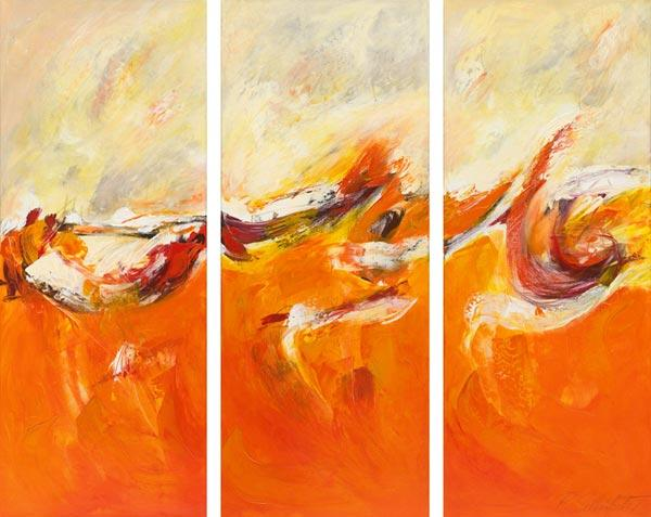 The Journey, triptych (made in one piece)