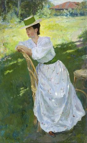Portrait of a woman (En plein air)