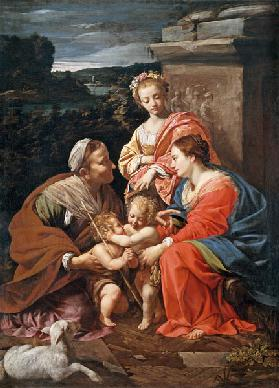 Virgin and child with John the Baptist as a Boy, Saint Elizabeth and Saint Catherine
