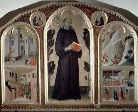 The Blessed Agostino Novello Altarpiece, with four of his miracles
