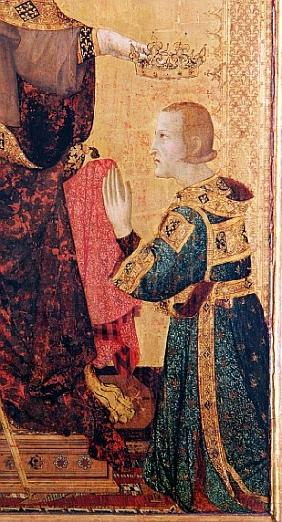 St. Louis of Toulouse (1274-97) crowning his brother, Robert of Anjou (1278-1343) from the Altar of