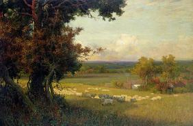 The Golden Valley (oil on canvas)