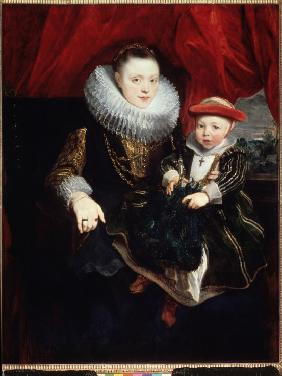 Portrait of a young Lady with Child