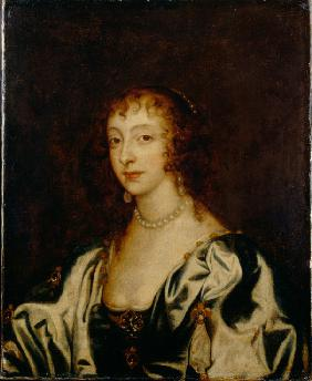 Portrait of Queen Henrietta Maria of France (1609-1669)
