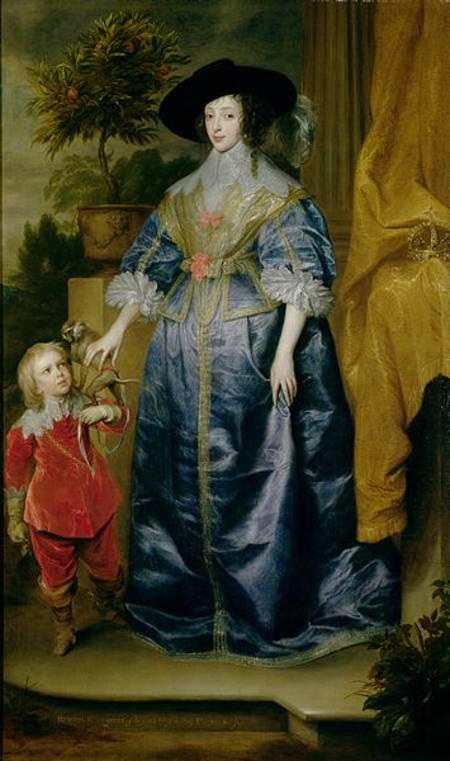 Image sir anthonis van dyck queen henrietta maria and her dwarf sir