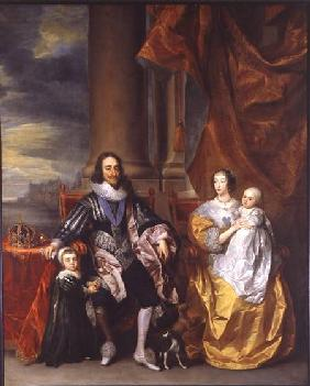 King Charles I (1600-49) and his Family