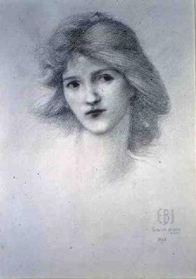 Female Head, study for 'The Car of Love'