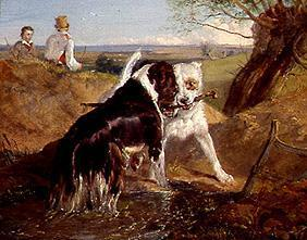 Landseer, Sir Edwin Henry : Two dogs in the fight for ...