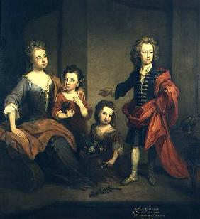 Richard Boyle, 3rd Earl of Burlington, as a boy, with his sisters Elizabeth, Juliana and Jane
