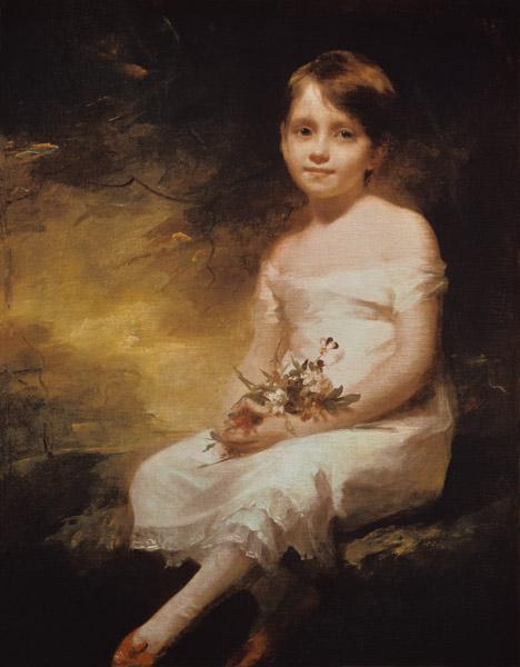 Little Girl with Flowers or Innocence, Portrait of Nancy Graham