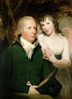 Sir Alexander Don with his daughter Elizabeth