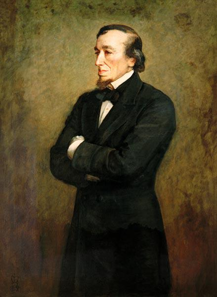 Portrait of Benjamin Disraeli (1804-1881) Earl of Beaconsfield
